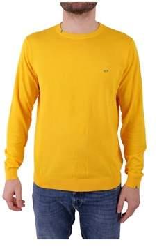 Sun 68 Men's Yellow Cotton Sweater.