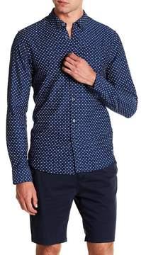 Scotch & Soda Slim Fit Printed Long Sleeve Shirt