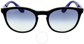Ray-Ban Round Clear Gradient Blue Sunglasses