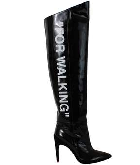 Off-White For Walking Patent Boots
