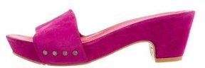 Donald J Pliner Suede Platform Sandals