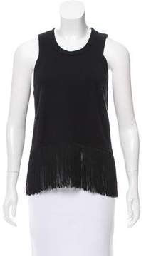 Timo Weiland Fringe Trimmed Knit Top