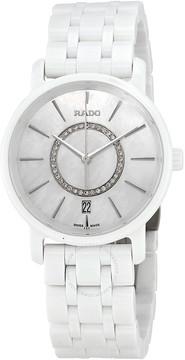 Rado Diamaster Mother Of Pearl Dial Ladies Ceramic Watch