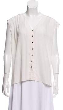 Dolce Vita Sleeveless Button-Up Top