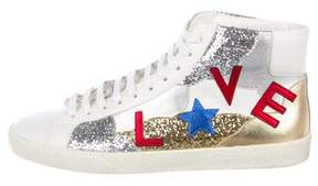 Saint Laurent Court Classic Love Sneakers