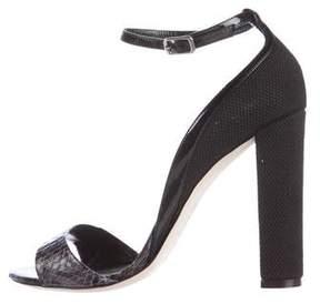 Alejandro Ingelmo Snakeskin Ankle Strap Sandals