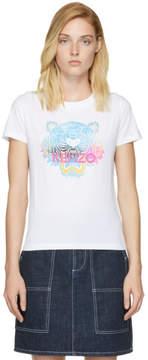 Kenzo White Limited Edition Rainbow Tiger T-Shirt