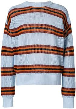 Laneus striped design pullover