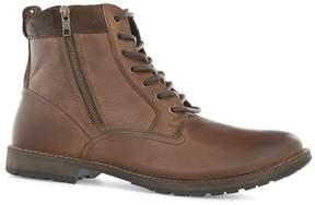 Topman Brown Leather Zip Chukka Boots