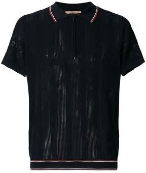 Nuur zipped neck polo shirt