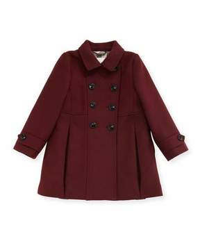 Burberry Frieda Double-Breasted Wool-Blend Coat, Size 6M-3Y