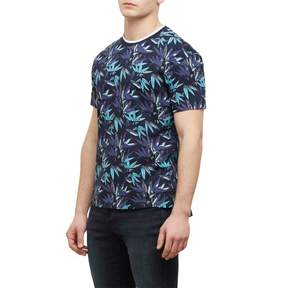 Kenneth Cole New York Reaction Kenneth Cole Short-Sleeve Allover Palm Print Crew - Men's