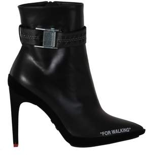 Off-White Black For Walking Booties