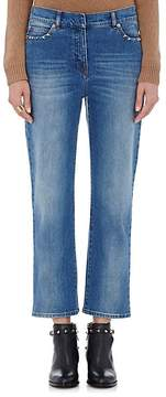 Valentino Women's Pyramid-Studded Crop Jeans