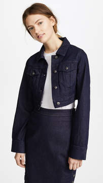 Susana Monaco Cropped Denim Jacket