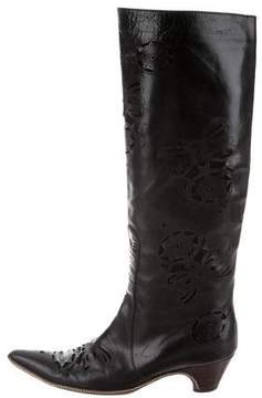 Dries Van Noten Laser Cut Knee-High Boots