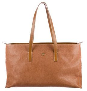 Roberto Cavalli Camel Leather Tote