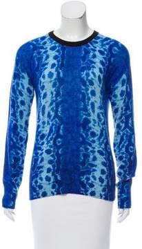 Equipment Cashmere Python Print Sweater