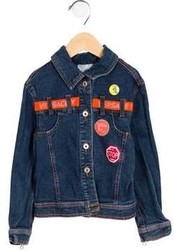 Versace Boys' Logo Denim Jacket