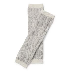 Ralph Lauren Fingerless Metallic Gloves Cream/Platinum One Size