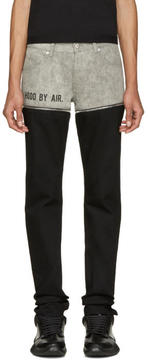 Hood by Air Black and Grey Panty Jeans