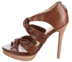 Alexandre Birman Knotted Platform Sandals