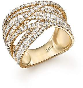 Bloomingdale's Diamond Baguette and Round Statement Ring in 14K Yellow Gold, 2.70 ct. t.w. - 100% Exclusive