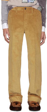 Prada Tan Corduroy Trousers