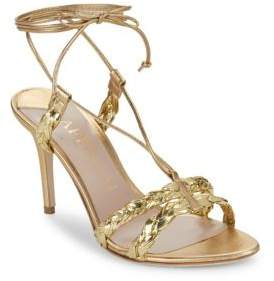 Aperlaï Metallic Open Toe Sandals