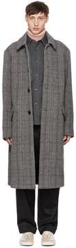 Acne Studios Grey Magma Check Coat