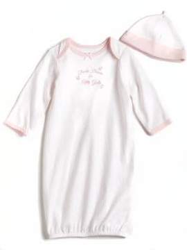 Little Me Newborn Girls Thank Heaven Gown and Hat
