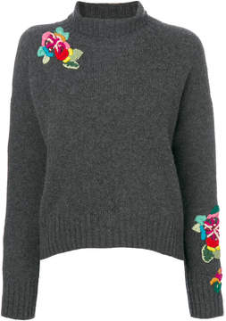 Ermanno Scervino flower embroidered jumper
