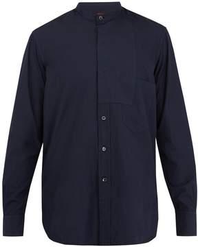 Barena VENEZIA Grandad-collar patch-detail cotton-poplin shirt
