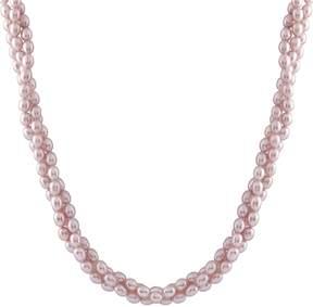 Bella Pearl Purple Rice Pearl Necklace