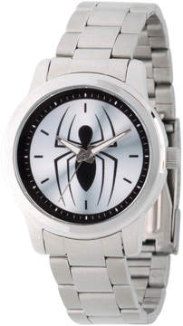 Marvel Spiderman Mens Silver Tone Strap Watch-Wma000209