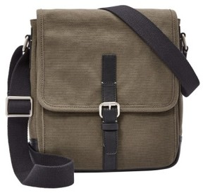 Fossil Men's 'Davis' Canvas Messenger Bag - Green