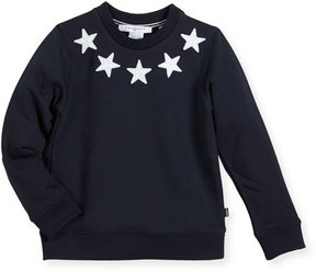 Givenchy Boys' Crewneck Sweatshirt w/ Star Patches, Size 4-5