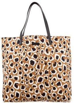 Gucci Leopard Print Canvas Tote - BLACK - STYLE