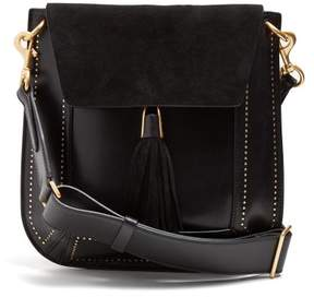 Isabel Marant Kansy Leather And Suede Tassel Bag - Womens - Black
