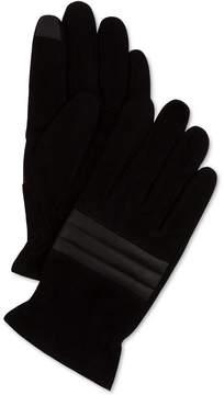 Calvin Klein Men's Suede Quilted Gloves
