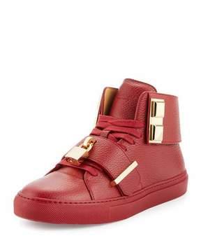 Buscemi Men's 100mm Trap High-Top Sneaker, Red