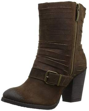 Naughty Monkey Womens Do Re Mi Suede Closed Toe Mid-calf Fashion Boots.