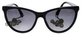 Chanel Cat-Eye Pearl Sunglasses