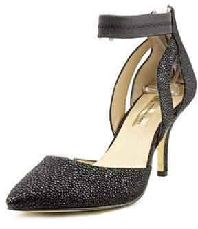 INC International Concepts Zaphire Women Round Toe Leather Black Heels.