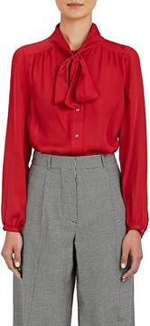 Barneys New York Women's Silk Tieneck Blouse