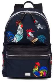 Dolce & Gabbana Rooster Printed Backpack