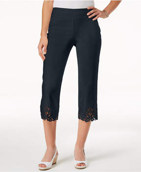Charter Club Cambridge Crochet-Hem Capri Pants, Created for Macy's