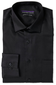 Geoffrey Beene Black Sateen Classic Fit Dress Shirt