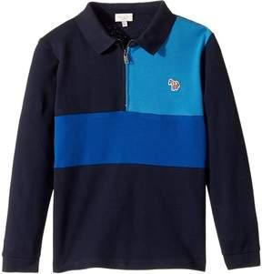 Paul Smith Color Blocked Zip Polo Boy's Clothing