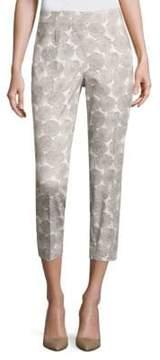 Peserico Floral Printed Side Zip Pants